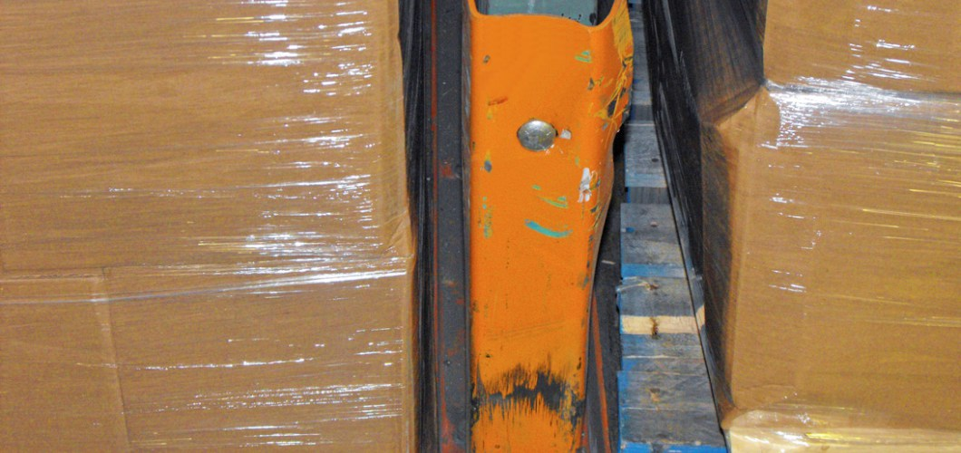 damaged pallet rack