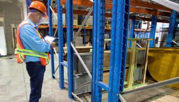 warehouse rack inspection