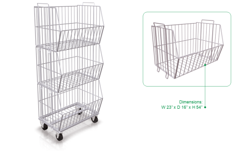 Mobile Stacking Baskets